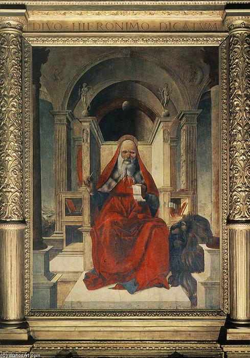 St Jerome, Panel by Lorenzo Costa (The Elder) (1460-1535, Italy)
