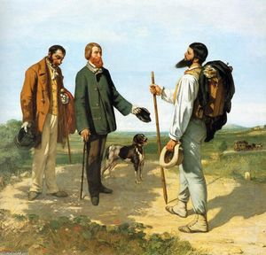 Gustave Courbet - The Meeting or Bonjour Monsieur Courbet