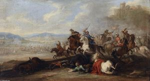 Jacques Courtois - Cavalry Battle between Christians and Turks
