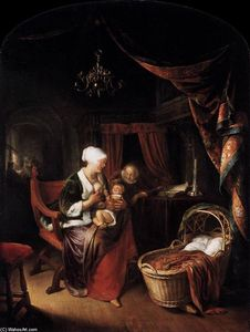 Gerrit Dou - The Young Mother