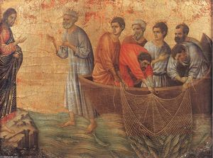 Duccio Di Buoninsegna - Appearence on Lake Tiberias