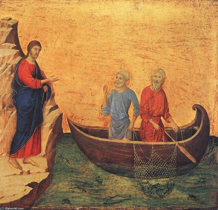 Calling of Peter and Andrew, 1308 by Duccio Di Buoninsegna (1255-1319, Italy) | WahooArt.com