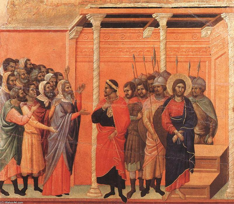 Christ Accused by the Pharisees, 1308 by Duccio Di Buoninsegna (1255-1319, Italy) | Painting Copy | WahooArt.com
