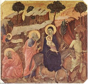 Duccio Di Buoninsegna - Flight into Egypt