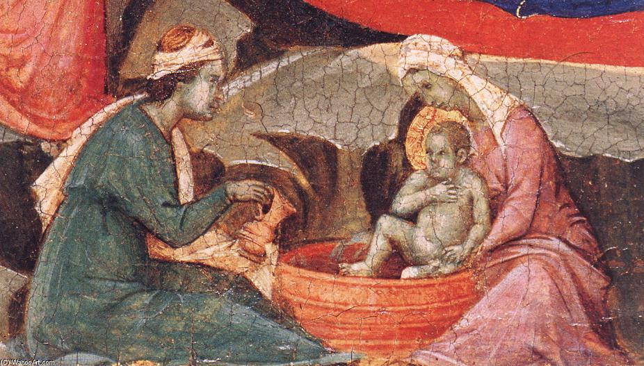 Nativity (detail), Tempera by Duccio Di Buoninsegna (1255-1319, Italy)