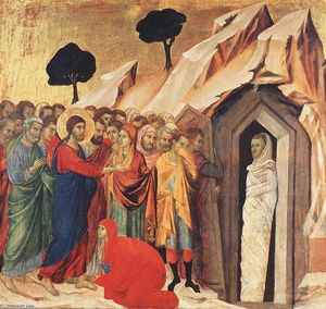 Duccio Di Buoninsegna - Resurrection of Lazarus