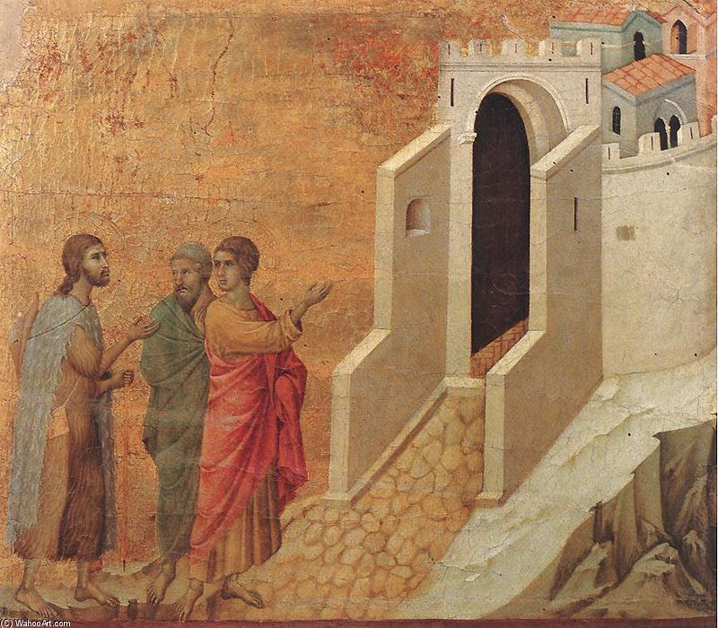Road to Emmaus, 1308 by Duccio Di Buoninsegna (1255-1319, Italy) | Painting Copy | WahooArt.com