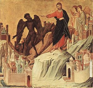 Duccio Di Buoninsegna - Temptation on the Mount