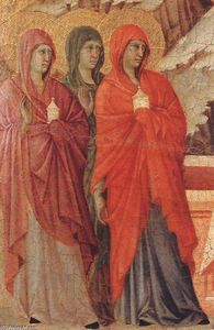 Duccio Di Buoninsegna - The Three Marys at the Tomb (detail)