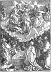 Albrecht Durer - Life of the Virgin: 18. The Coronation of the Virgin