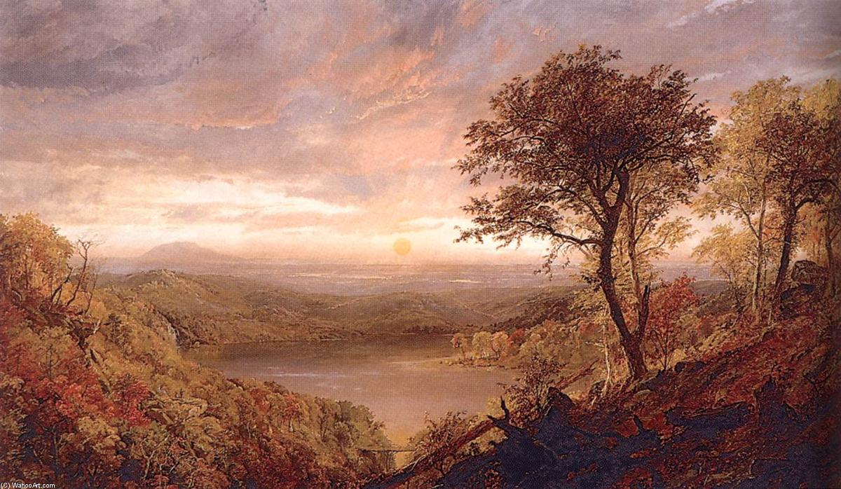 Greenwood Lake, Oil On Canvas by Jasper Francis Cropsey (1823-1900, United States)