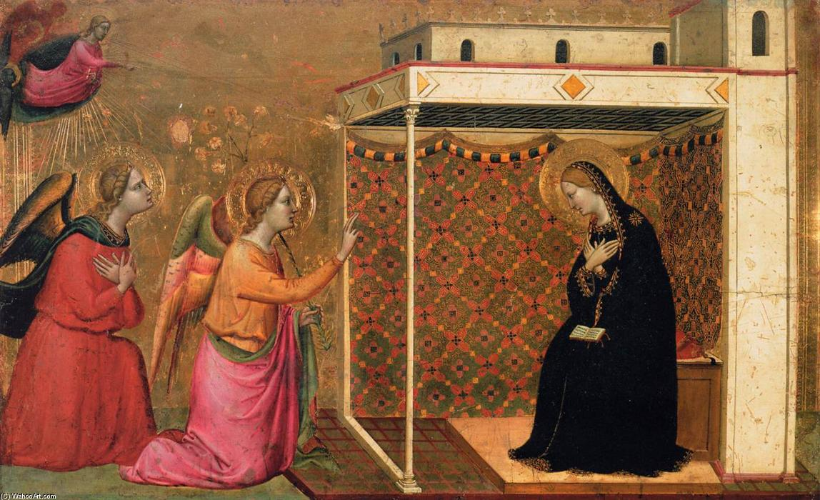 The Annunciation, Panel by Bernardo Daddi (1290-1348, Italy)