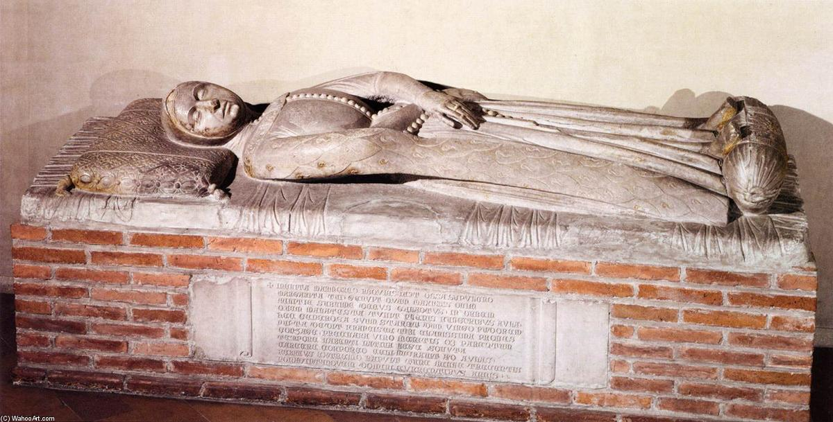 Sarcophagus of Margherita Malatesta, Marble by Jacobello Dalle Masegne (1350-1409, Italy)