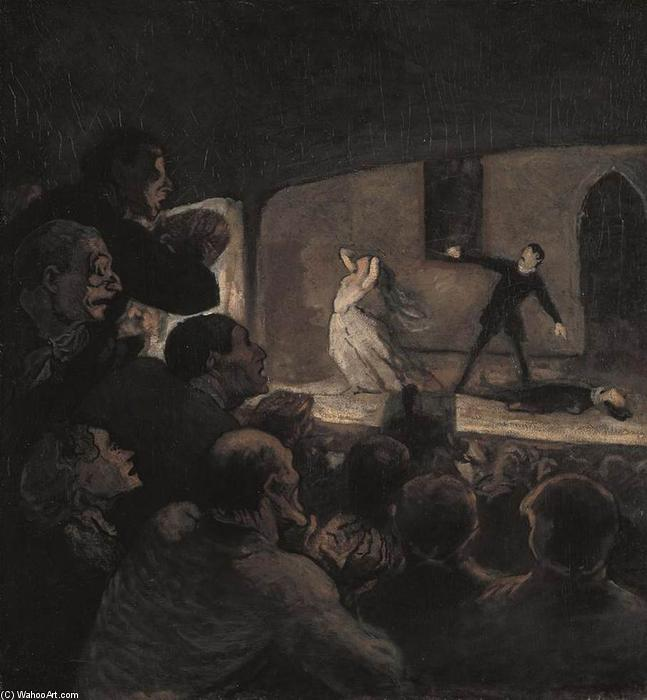 The Drama, 1860 by Honoré Daumier (1808-1879, France) | Art Reproduction | WahooArt.com