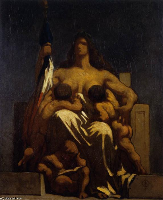 The Republic, Oil On Canvas by Honoré Daumier (1808-1879, France)