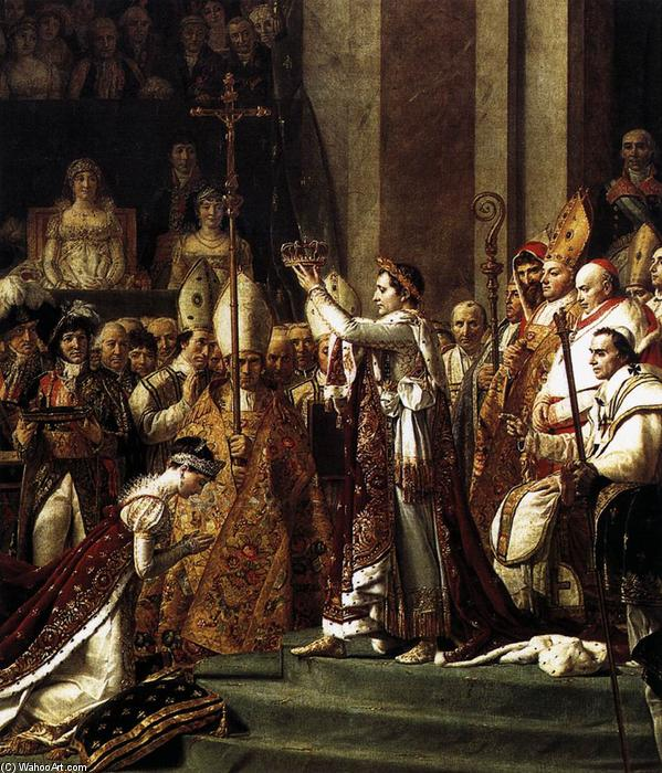 Consecration of the Emperor Napoleon I (detail) (10), 1805 by Jacques Louis David (1748-1800, France) | Oil Painting | WahooArt.com