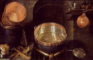 Cornelis Jacobsz Delff - Still-Life of Kitchen Utensils