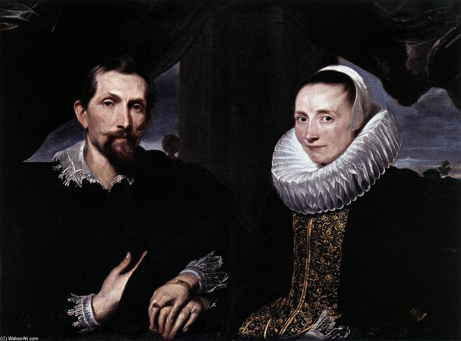 Double Portrait of the Painter Frans Snyders and his Wife, 1621 by Anthony Van Dyck (1599-1641, Belgium) | Museum Art Reproductions Anthony Van Dyck | WahooArt.com