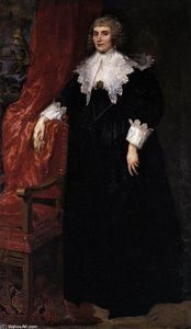 Anthony Van Dyck - Portrait of Anna van Craesbecke