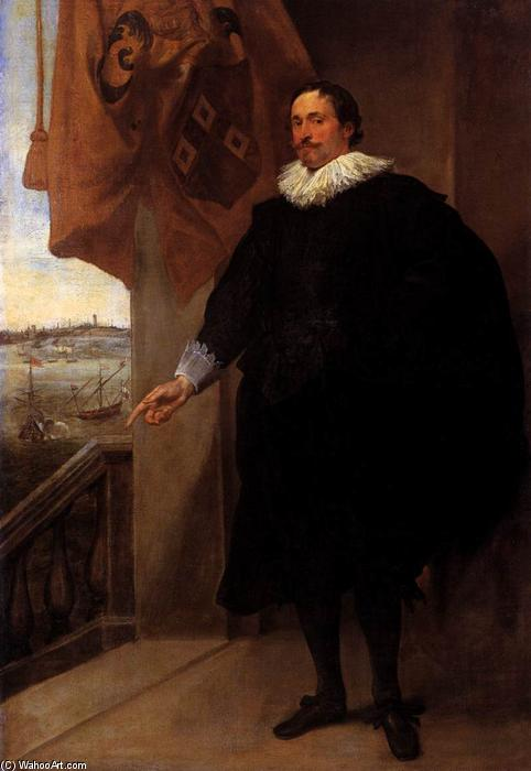 Order Art Reproductions | Portrait of Nicolaes van der Borght, 1620 by Anthony Van Dyck (1599-1641, Belgium) | WahooArt.com