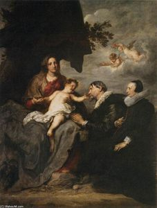 Anthony Van Dyck - Virgin with Donors