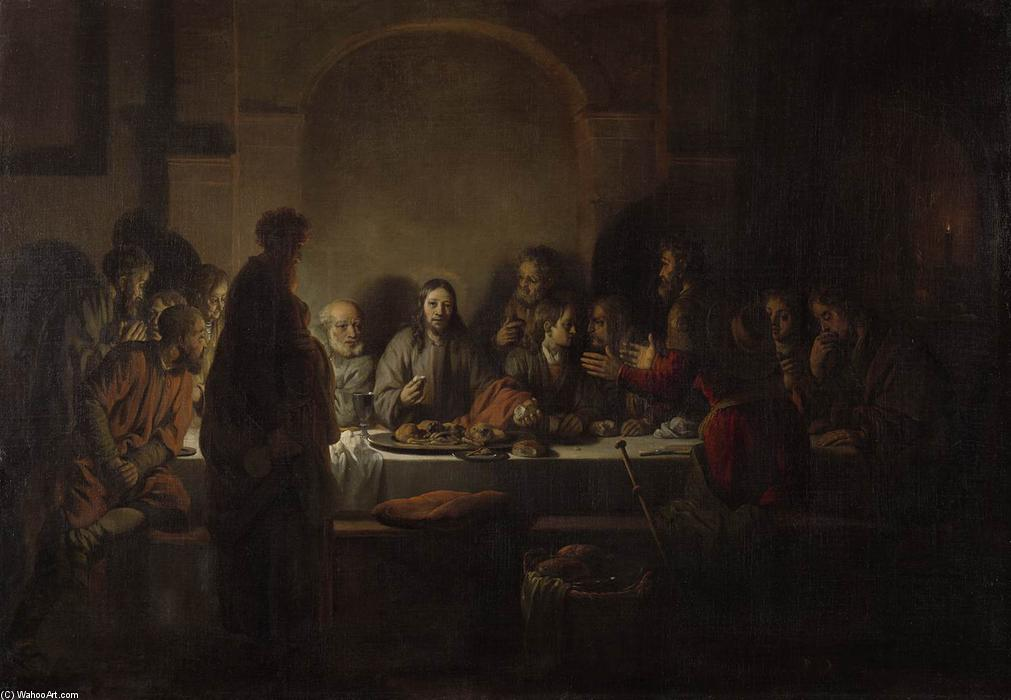 The Last Supper, 1664 by Gerbrand Van Den Eeckhout (1621-1674, Netherlands) | Famous Paintings Reproductions | WahooArt.com