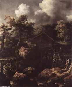Allart Van Everdingen - Forest Scene with Water-Mill