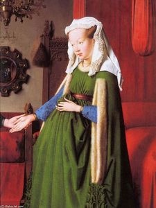 Jan Van Eyck - Portrait of Giovanni Arnolfini and his Wife (detail) (12)