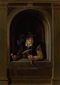 Gerrit Dou - A Fisherman-s Wife