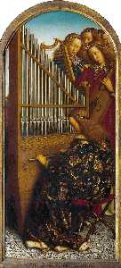 Jan Van Eyck - The Ghent Altarpiece: Angels Playing Music