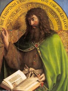Jan Van Eyck - The Ghent Altarpiece: St John the Baptist (detail)