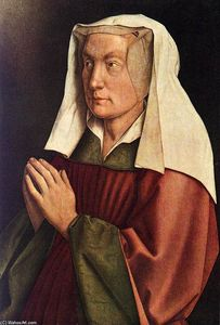Jan Van Eyck - The Ghent Altarpiece: The Donor-s Wife (detail)
