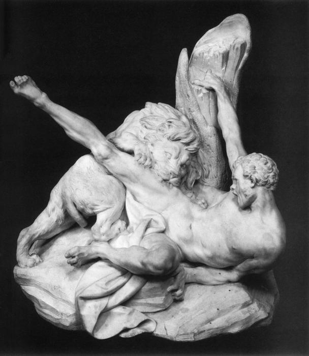 Milo of Croton, Marble by Étienne Maurice Falconet (1716-1791, France)