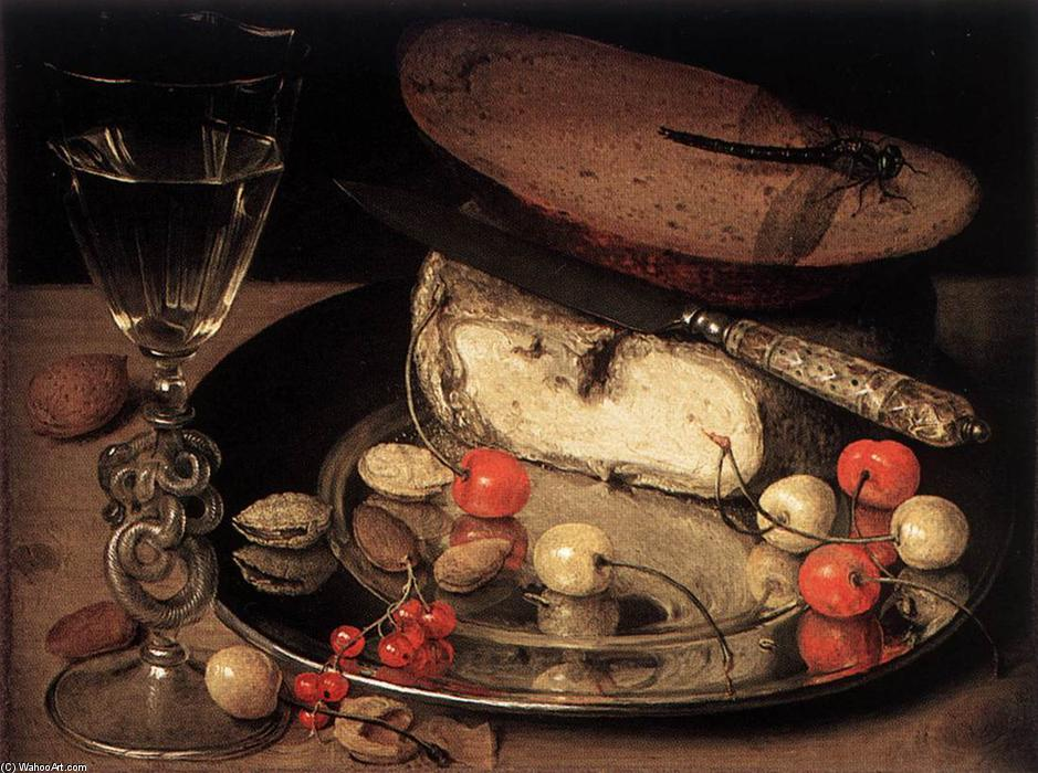 Order Paintings Reproductions | Still-Life with Cherries, 1635 by Georg Flegel (1566-1638, Czech Republic) | WahooArt.com