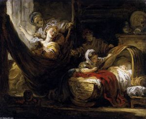 Jean-Honoré Fragonard - The Cradle