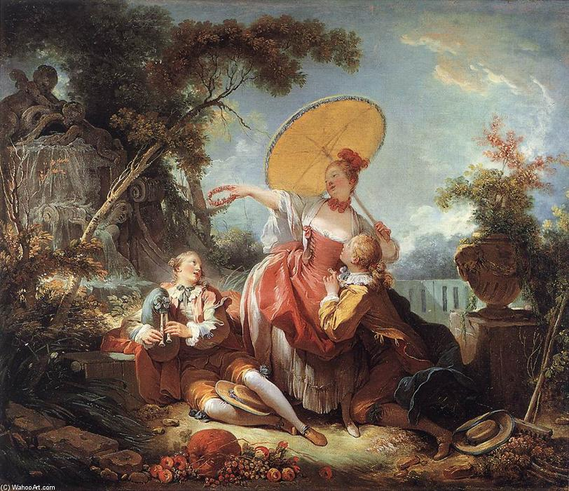 The Musical Contest, 1754 by Jean-Honoré Fragonard (1732-1806, France) | Art Reproduction | WahooArt.com