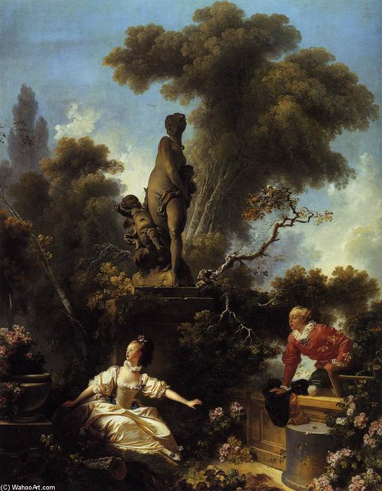 The Progress of Love: The Meeting, 1773 by Jean-Honoré Fragonard (1732-1806, France) | Museum Quality Reproductions | WahooArt.com