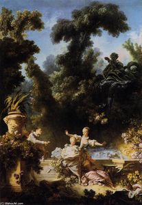 Order Paintings Reproductions | The Progress of Love: The Pursuit, 1773 by Jean-Honoré Fragonard (1732-1806, France) | WahooArt.com