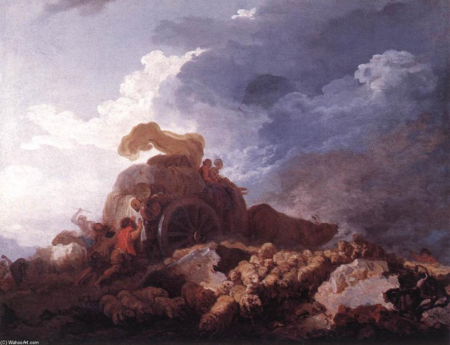 The Storm, 1759 by Jean-Honoré Fragonard (1732-1806, France) | Museum Quality Copies Jean-Honoré Fragonard | WahooArt.com