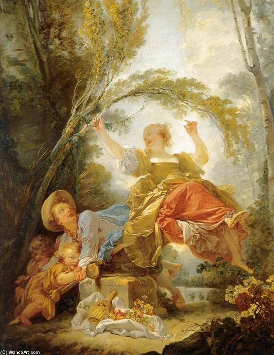 Order Reproductions | The Swing, 1750 by Jean-Honoré Fragonard (1732-1806, France) | WahooArt.com
