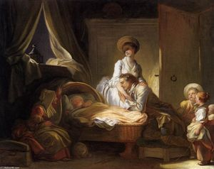 Jean-Honoré Fragonard - The Visit to the Nursery