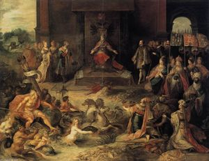 Frans Francken The Younger - Allegory on the Abdication of Emperor Charles V in Brussels, 25 October 1555,