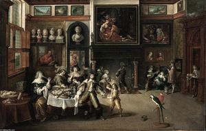 Order Museum Quality Copies | Supper at the House of Burgomaster Rockox, 1630 by Frans Francken The Younger (1581-1642, Belgium) | WahooArt.com