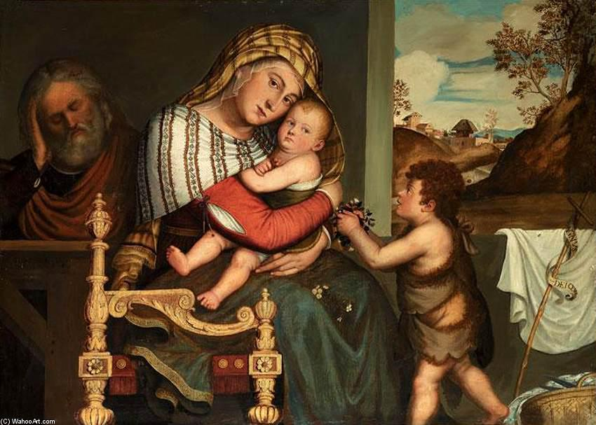 The Holy Family with the Infant St John the Baptist, 1595 by Niccolò Frangipane | WahooArt.com
