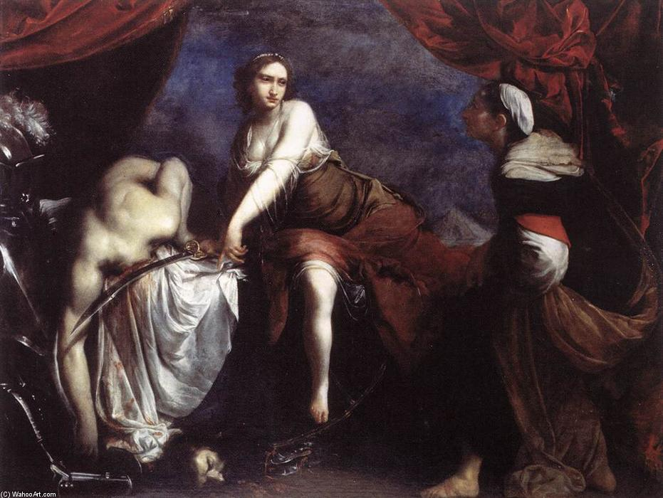 Judith and Holofernes, Oil On Canvas by Francesco Furini (1603-1646, Italy)