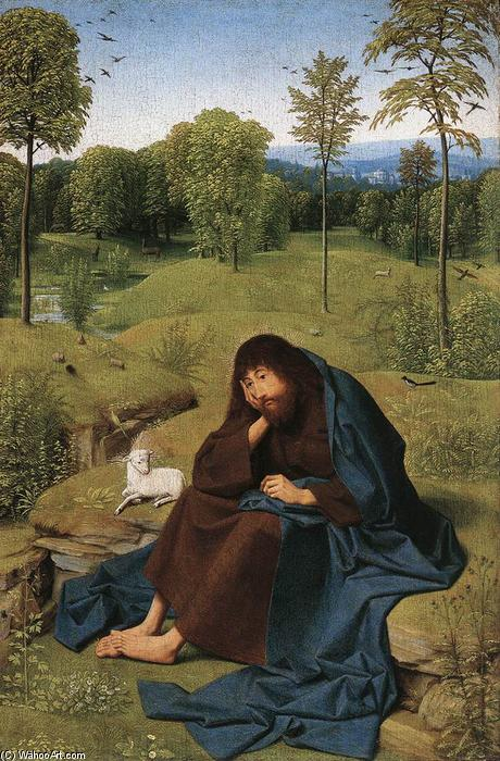 John the Baptist in the Wilderness, Panel by Geertgen Tot Sint Jans (1460-1490, Netherlands)