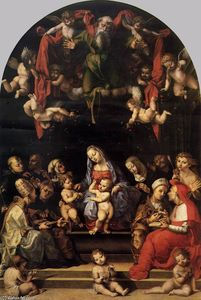 Girolamo Genga - Virgin and Child with Saints