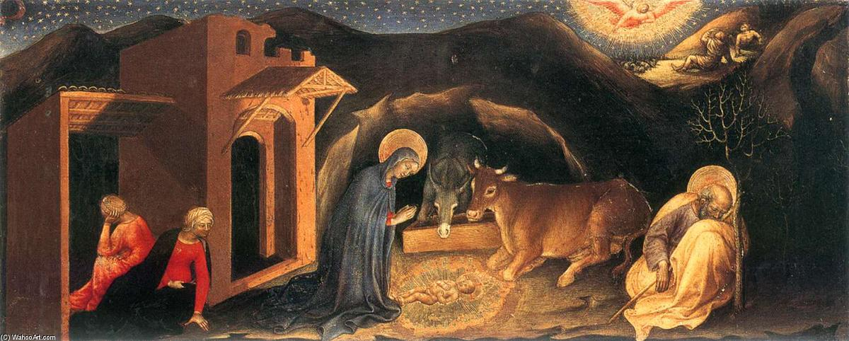 Nativity, Tempera by Gentile Da Fabriano (1370-1427, Italy)