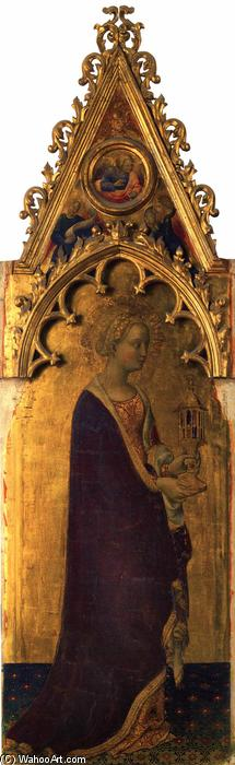 Quaratesi Polyptych: St Mary Magdalen, Tempera by Gentile Da Fabriano (1370-1427, Italy)