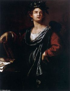 Order Art Reproduction : Clio, the Muse of History, 1632 by Artemisia Gentileschi (1593-1656, Italy) | WahooArt.com